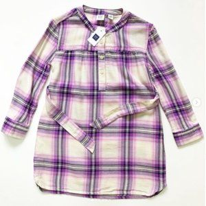 Gap Kids Lightweight and  Plaid Dress XS (4-5) NWT